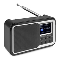 Audizio Parma Portable DAB+ Radio with Bluetooth, Black