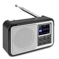 Portable DAB+ Radio with Bluetooth - Audizio Parma - Silver