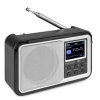 Portable DAB+ Radio with Bluetooth - Audizio Anzio - Silver
