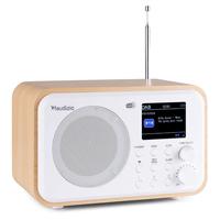 Audizio Milan Portable DAB+ Radio with Bluetooth, White