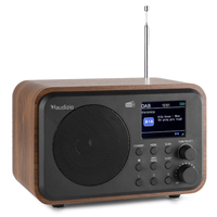 Audizio Milan Portable DAB+ Radio with Bluetooth, Wood