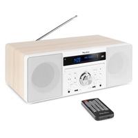 Audizio Prato Portable DAB+ Radio with Bluetooth, White