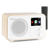 Audizio Venice Internet Radio Tuner with Bluetooth, White