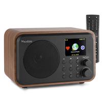 Audizio Venice Internet Radio Tuner with Bluetooth, Wood