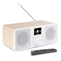 Audizio Rome Internet Radio Tuner with DAB+ and Bluetooth, White