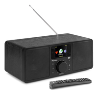 Audizio Rome Internet Radio Tuner with DAB+ and Bluetooth, Black