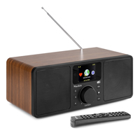 Audizio Rome Internet Radio Tuner with DAB+ and Bluetooth, Wood