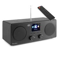 Internet Digital Radio with Bluetooth, WiFi & DAB+ - Audizio Bari Black