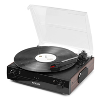 Bluetooth Vinyl Record Player with MP3 - Fenton RP102B Black/Wood