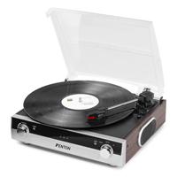Bluetooth Turntable with MP3 - Fenton RP102A Aluminium/Wood