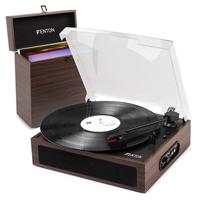 Bluetooth Vinyl Record Player & Dark Wood Case - Fenton RP170D
