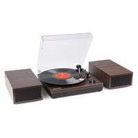 Bluetooth Vinyl Record Player - Fenton RP165D Dark Wood Finish