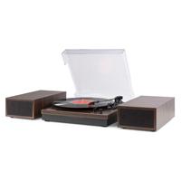 Retro Vinyl Player - Fenton RP165D Dark Wood Finish