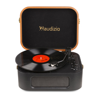 Vintage Record Player - Audizio RP315 - Stylish PU Leather Finish