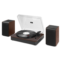 Bluetooth Turntable HiFi System - Audizio RP330 Dark Wood
