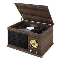 Retro Vinyl Player - Fenton RP173 Vintage Dark Wood Finish