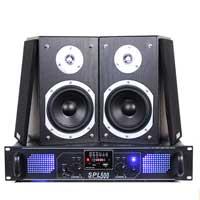 "Fenton SHFB55B 5"" Hi-Fi Bookshelf Speaker Set & Amplifier"