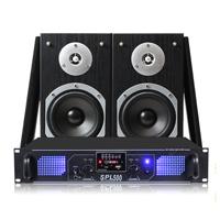 "Fenton SHFB55B 5"" Hi-Fi Bookshelf Speaker System with Amplifier"