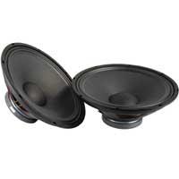 """2x QTX Sound 15"""" Speaker Drivers 1400W"""