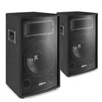 "2x Vonyx SL12 12"" Passive PA Speakers 1200W"