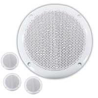 """Adastra 5.75"""" Waterproof Ceiling Speakers, Set of 4"""