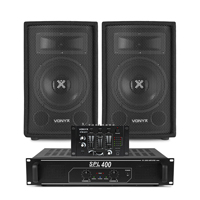 "Vonyx SL8 8"" Passive DJ/PA Speaker, Mixer & SPL400 Amplifier"