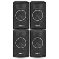 "Vonyx 6"" PA Party Speakers, Set of 4"