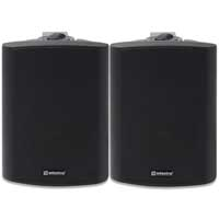 2x Black Weatherproof 100V Line Speakers 140W