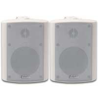 """Adastra 100V 4"""" Waterproof White Wall Speaker, Pair"""