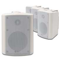 Adastra Indoor/Outdoor White Wall Speakers Set of 4, 100V Line
