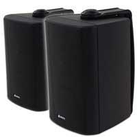 """Adastra 100V 3"""" Waterproof Black Wall Speaker, Pair"""