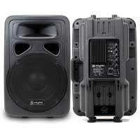 "Skytec SP1200A 12"" Active Karaoke DJ PA Speaker Pair"