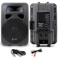 """Skytec SP1200A 12"""" Active PA Speaker Pair & Cables"""