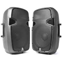 "2x Vonyx 15"" PA SPJ Speakers 1600W"
