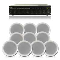 """Bosch 6"""" 100V Line Ceiling Speakers, Set of 10 with Amplifier"""