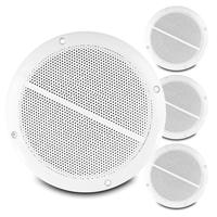 "4x Skytec 6.5"" Passive White IP44 Water Resistant Speakers 200W"