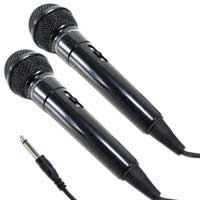 2x Pulse Dynamic Wired Handheld Microphones