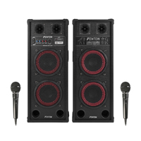 Fenton SPB-28 Bluetooth Active Party PA Speakers & Microphone Pair