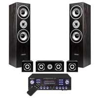 Fenton Black 5.0 Surround Sound Hi-Fi Speaker System with Amplifier