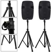 """Ekho RS12A 12"""" Active Speaker Pair & Stands"""