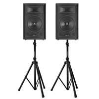 "Vonyx SL12 12"" Passive DJ/PA Speaker Pair & Stands"