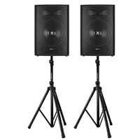 "Vonyx SL15 15"" Passive DJ/PA Speaker Pair & Stands"