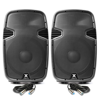 "Vonyx SPJ1500ABT 15"" Bluetooth Active PA Speaker Pair"