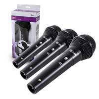 QTX DM-11 Wired Handheld Microphones, Set of 3