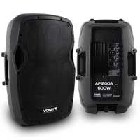"Pair of Vonyx AP1200A 12"" Active Speakers"