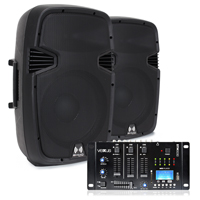"""Ekho RS12A 12"""" Active Speaker Pair with Mixer"""