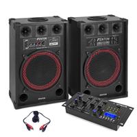 "Fenton SPB-12 12"" Bluetooth Active Party PA Speaker Pair with Mixer"
