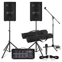 Complete Band PA System with SL10 Passive Speakers, Mics, Amp & Mixer