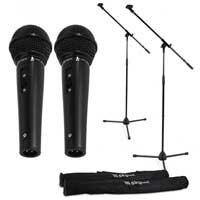 Vonyx Complete Microphone Set, Pair