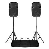 "Vonyx SPJ-1000AD 10"" Active PA Speaker & Stands"
